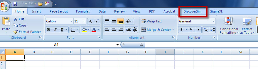 Where to Find SigmaXL in Excel 2007