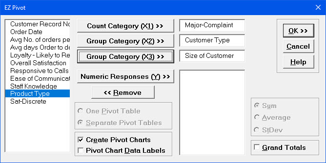 Pivot Table Variables
