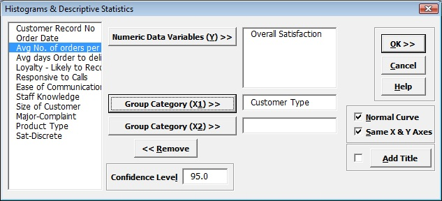 Create Histograms in Excel with SigmaXL
