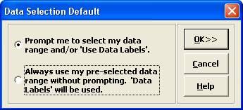 SigmaXL Data Selection