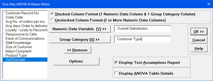 how to create resultant matrix in excel