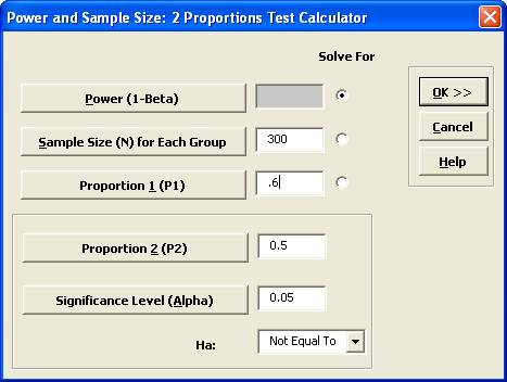 SigmaXL | Perform Power and Sample Size calculations for a Two ...