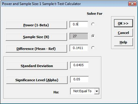 Power and Sample Size Calculator