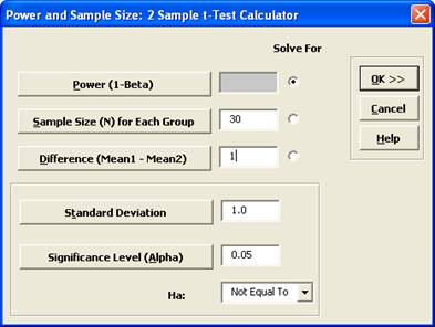 2 Sample t-Test Calculator